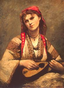 Corot, Gitane à la mandoline