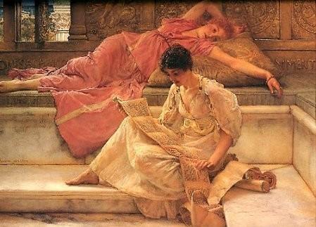 Sir Alma-Tadema, Le poète favori, 1888