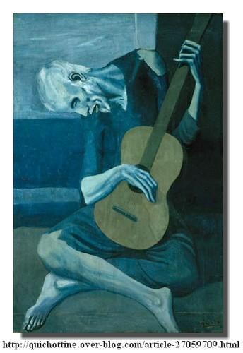 Picasso, Le guitariste aveugle, 1903