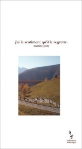 Martine Polly, J'ai le sentiment qu'il le regrette (couverture)