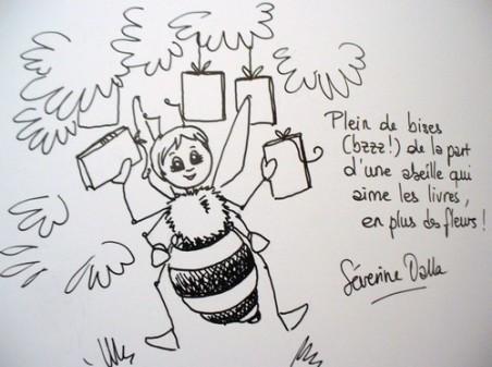 Severine Dalla, Alerte à la-ruche, dédicace