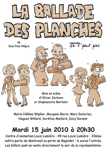L'affiche du spectacle du 15 juin 2010