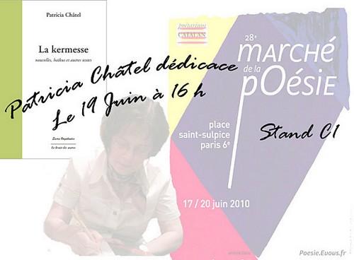 Patricia Châtel au marché de la poésie à Paris