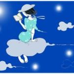 Juste un coin de ciel bleu... Quichottine par Marlène