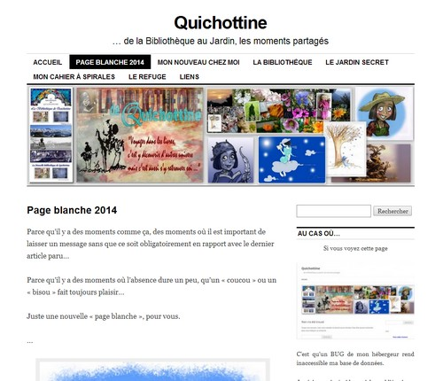 """Page blanche 2014... """"Quand tournent les moulins"""""""
