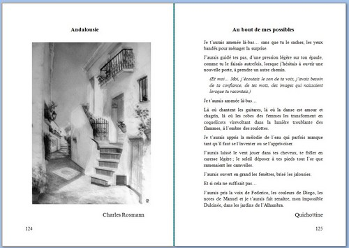 Aquarelle de Kako, texte de Quichottine.