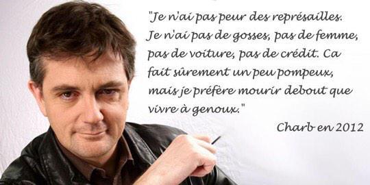 En hommage à Charb, assassiné le 7 janvier 2015